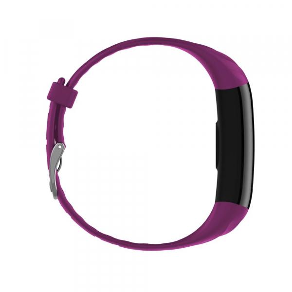Bratara fitness ultra usoara Optimus AT 55, IP68, puls, tensiune, pedometru, notificari, calorii, distanta, violet [1]