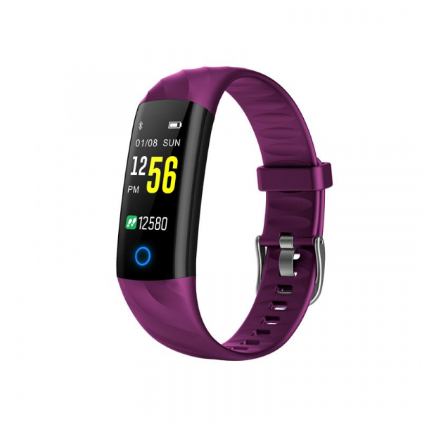 Bratara fitness ultra usoara Optimus AT 55, IP68, puls, tensiune, pedometru, notificari, calorii, distanta, violet [0]