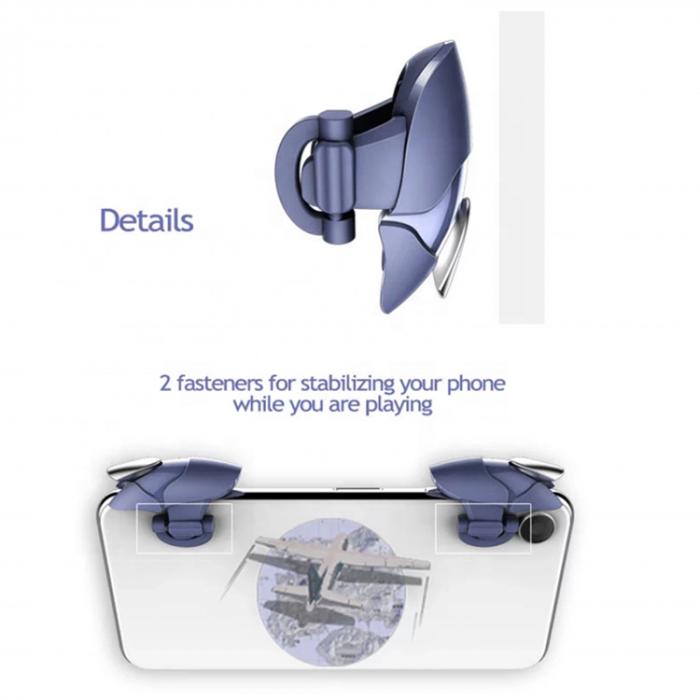 Butoane speciale de gaming tip rechin pentru telefoane compatibile PUBG mobile [4]