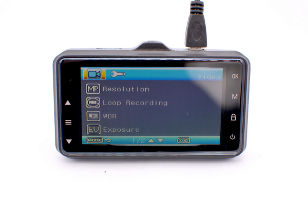 Camera auto Optimus AT G1 carcasa metalica fullHD 1080 30 fps, 140 grade, 3.0 inch, mod parcare, cablu 3,5 metri, black [2]