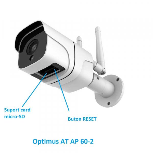 Camera supraveghere exterior IP WIFI Optimus AT AP-60 2.0 mpx fullHD 1920*1080P, comunicare bidirectionala, night vision, cloud aplicatie telefon [7]
