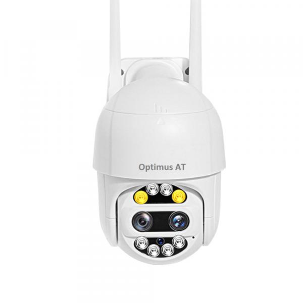 Camera supraveghere interior / exterior cu 2 lentile Optimus AT 9128-2 fullHD 2 mp comunicare bidirectionala, vedere noctura, aplicatie telefon [0]