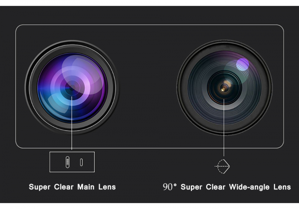 Camera supraveghere interior / exterior cu 2 lentile Optimus AT 9128-2 fullHD 2 mp comunicare bidirectionala, vedere noctura, aplicatie telefon [3]