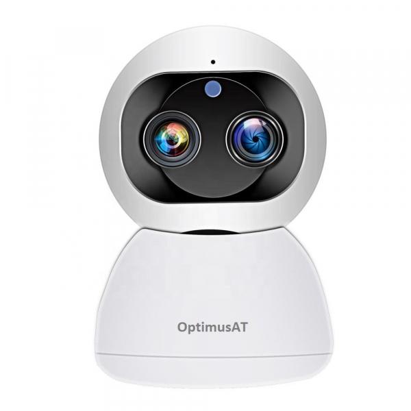 Camera supraveghere interior IP WIFI cu 2 lentile Optimus AT 3612, full HD, 3.6mm 8mm, autourmarire, comunicare bidirecionala [2]