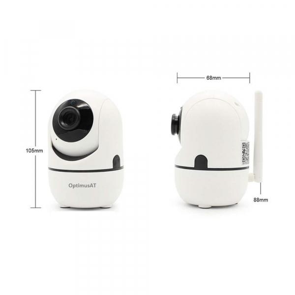 Camera supraveghere interior IP WIFI Optimus AT 288-2 fullHD 1920*1080P 2 mp comunicare bidirectionala, functie de auto urmarire subiect, night vision, aplicatie telefon [5]