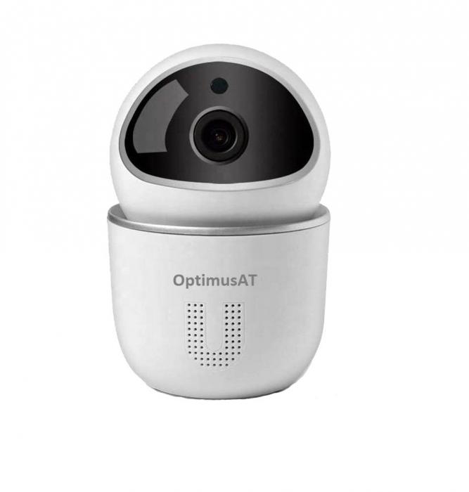 Camera supraveghere interior Optimus AT NPP07, comunicare bidirectionala, functie de autourmarire subiect, night vision, aplicatie telefon [0]