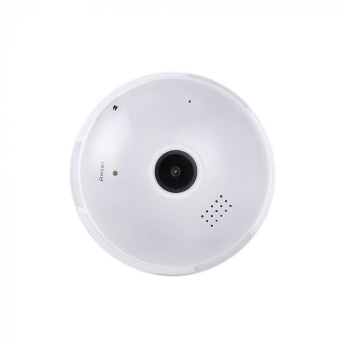 Camera supraveghere tip bec E27 IP WIFI Optimus AT B2-R fullHD 1920*1080P 2 mp, night vision, aplicatie telefon, alb [2]