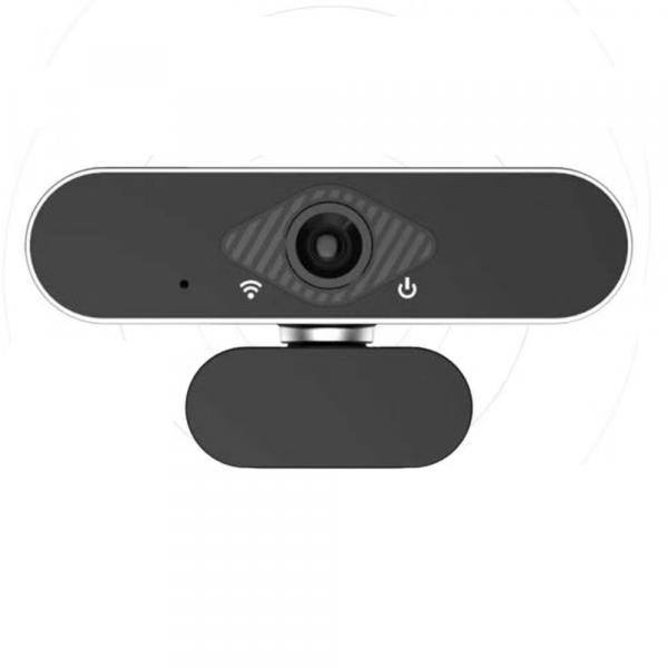 Camera WEB cu microfon Optimus AT DZ-001, rezolutie full-HD, 2mpx, rotire 360, prinderi multiple, negru/gri [0]