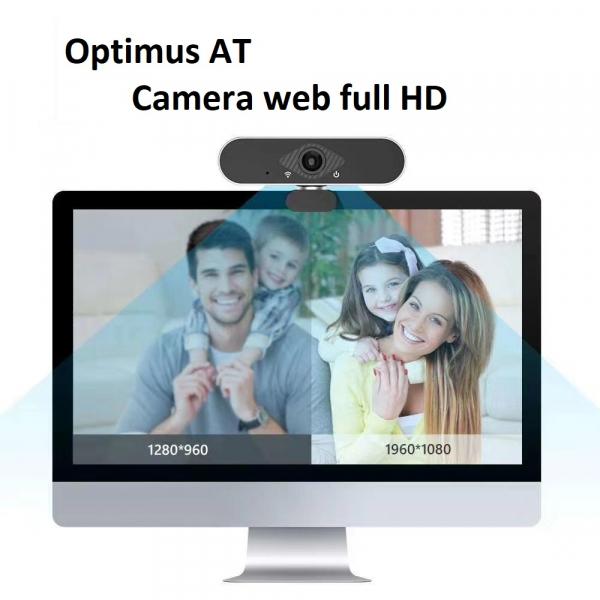 Camera WEB cu microfon Optimus AT DZ-001, rezolutie full-HD, 2mpx, rotire 360, prinderi multiple, negru/gri [2]
