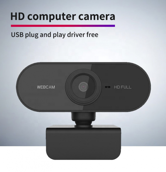 Camera WEB cu microfon Optimus AT C1, rezolutie full-HD 1080p, 2mpx, prinderi multiple, negru [4]