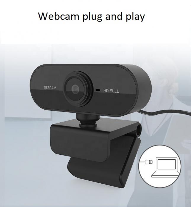 Camera WEB cu microfon Optimus AT C1, rezolutie full-HD 1080p, 2mpx, prinderi multiple, negru [0]