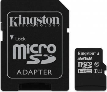 Card de memorie MicroSD Kingston Canvas Select Plus, 32GB, 80MB/s, cu adaptor [1]