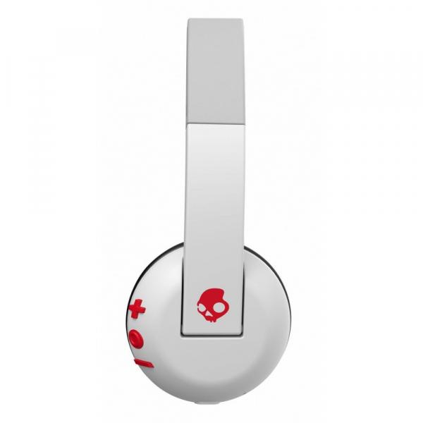 Casti Audio On-Ear Mic Skullcandy Bt Wireless White Gray Red [2]