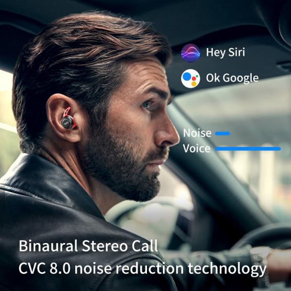 Casti bluetooth 5.0 Hi-Fi TWS MiFa X12 fara fir (wireless), control audio, handsfree, rezistente la apa IPX7, black [8]