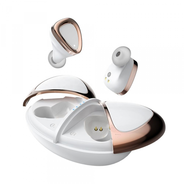 Casti bluetooth 5.0 Hi-Fi TWS Melofun M2 fara fir (wireless), control audio, handsfree, rezistente la apa IPX7, white [0]