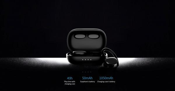Casti bluetooth 5.0 Hi-Fi TWS MiFa X12 fara fir (wireless), control audio, handsfree, rezistente la apa IPX7, black [4]
