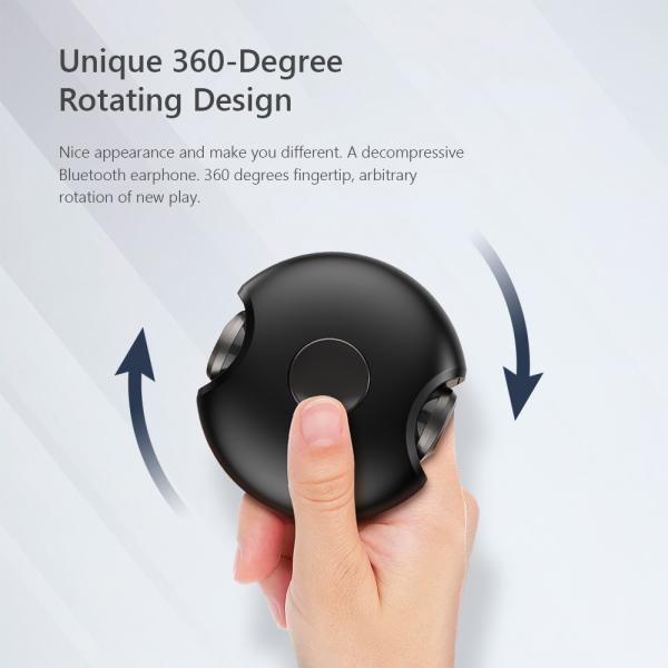 Casti bluetooth 5.0 Hi-Fi TWS Melofun M1 fara fir (wireless), control audio, handsfree, gamimg, rezistente la apa IPX4 black [3]