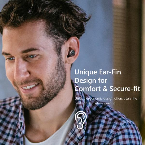 Casti bluetooth 5.0 Hi-Fi TWS Melofun M1 fara fir (wireless), control audio, handsfree, gamimg, rezistente la apa IPX4 black [5]