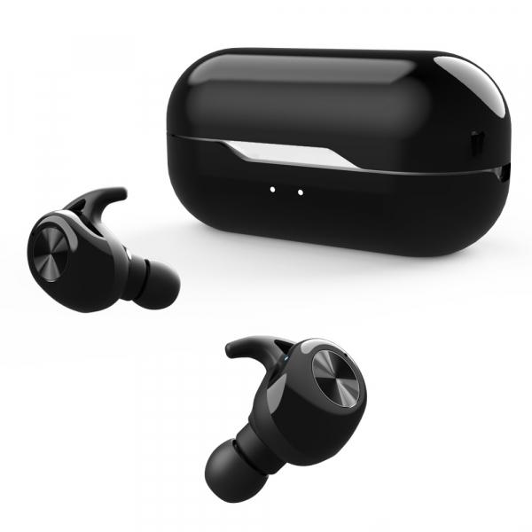 Casti bluetooth Premium TWS 701 fara fir (wireless), control audio, handsfree, rezistente la apa IPX5, black [0]