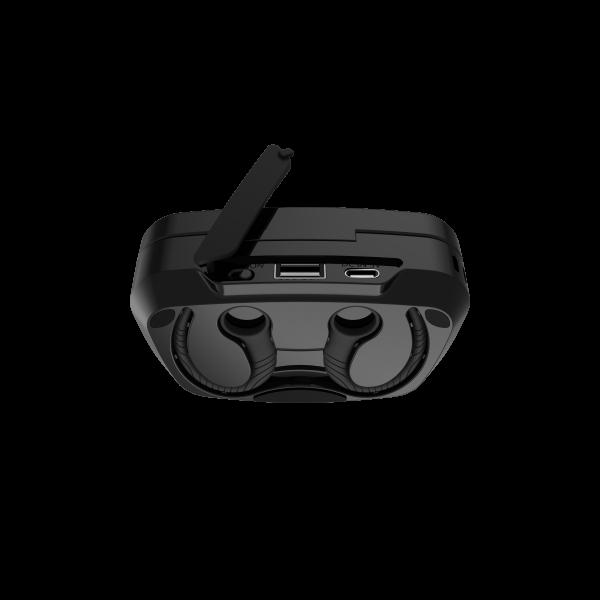 Casti bluetooth Premium TWS 702 fara fir (wireless), control audio, handsfree, rezistente la apa IPX5, black [4]