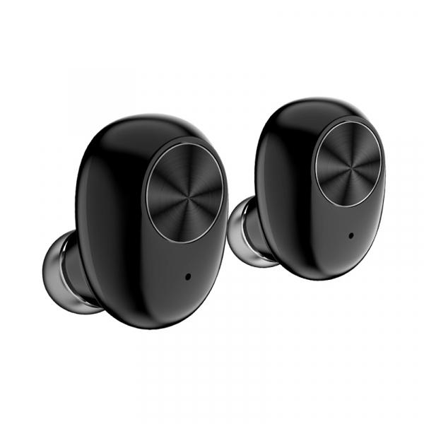 Casti bluetooth TWS Optimus AT V6 fara fir (wireless), control audio, handsfree, rezistente la apa IPX4, black [4]