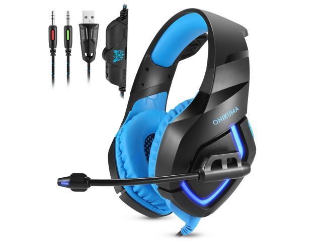 Casti Gaming DC-Onikuma K1, Surround Sound 7.1, Microfon Noise Cancelling, Zero Ear Pressure, Multi Platform -  Albastru [3]