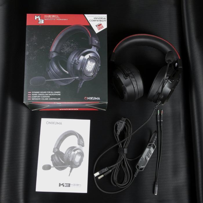 Casti Gaming Onikuma K3, Microfon Noise Cancelling, Zero Ear Pressure, Multi Platform -Negru [3]