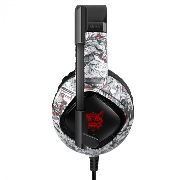 Casti Gaming Onikuma K19 Profesionale, Iluminare RGB, Surround Sound 7.1, Microfon Noise Cancelling, Zero Ear Pressure - Camouflage Gri [5]