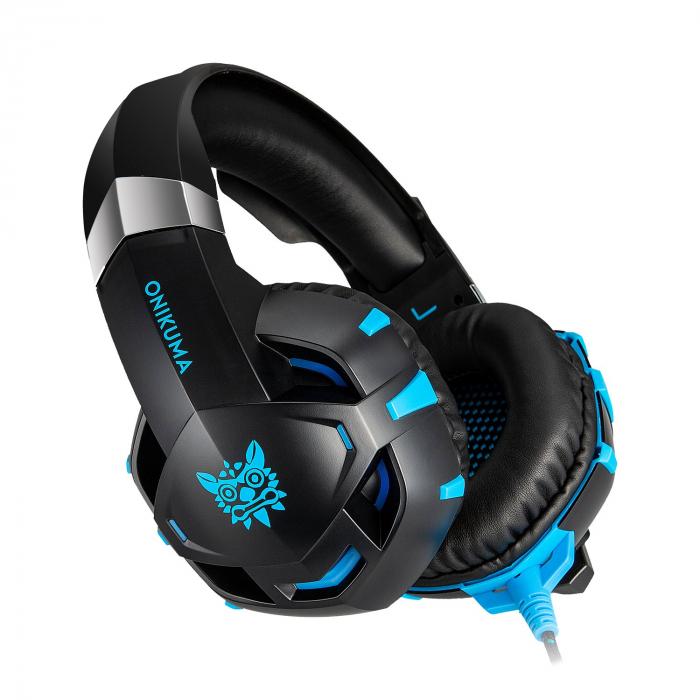 Casti Gaming Onikuma K2 PRO, Microfon Noise Cancelling, Zero Ear Pressure, Multi Platform -Negru/ Albastru [0]
