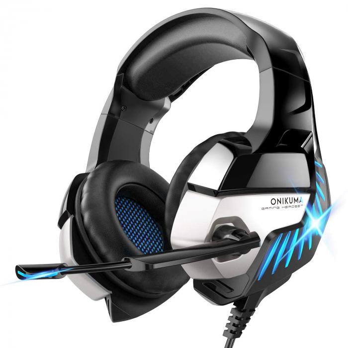 Casti gaming stereo Onikuma K5Pro Albastru [0]