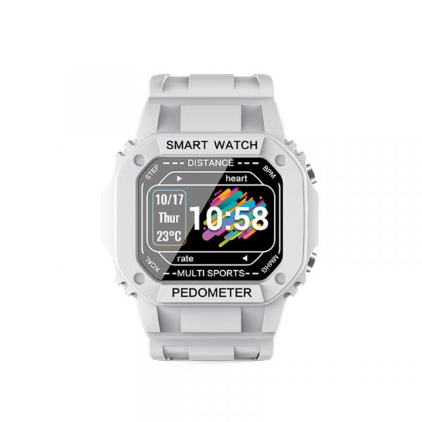 Ceas inteligent (smartwatch) cu design retro Optimus AT I2 ecran 0.96 inch color puls, moduri sport, notificari, grey [1]