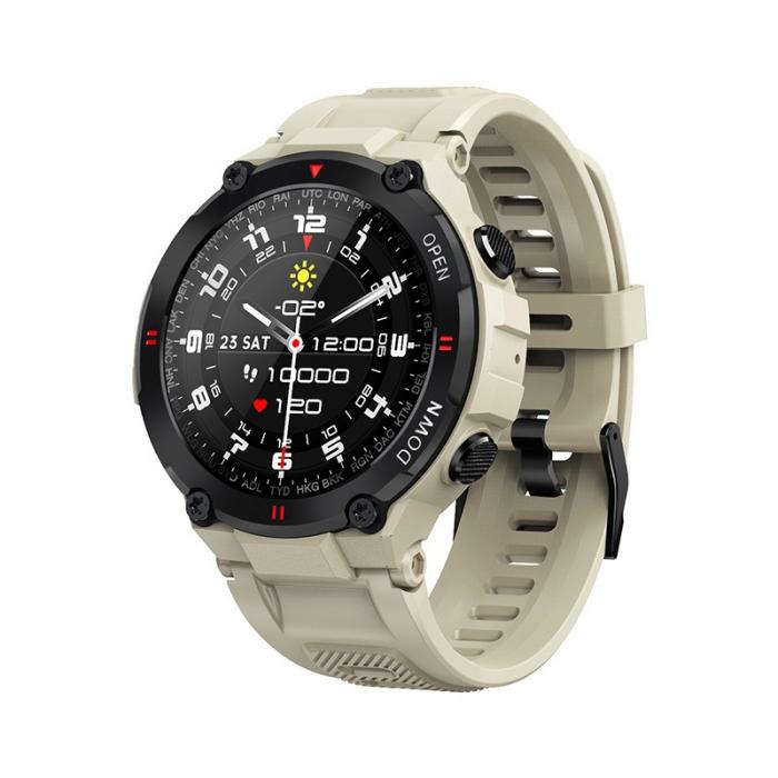 Ceas inteligent (smartwatch) K27 ecran cu touch color HD, autonomie marita, moduri sport, pedometru, puls, notificari, gri [3]