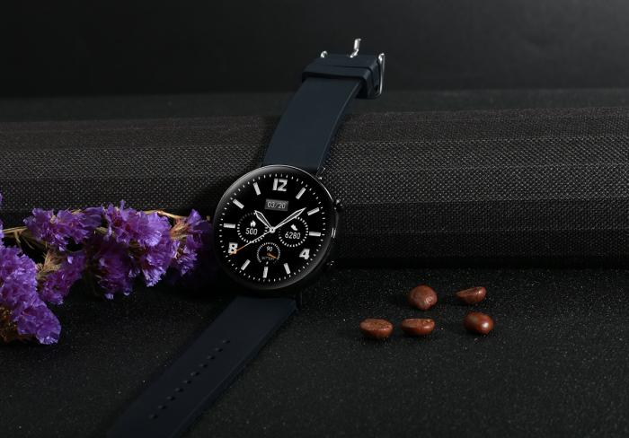 Ceas inteligent (smartwatch) SW07 cu apelare, difuzor si microfon incorporat, IP68, ecran cu touch 1.28 inch color, moduri sport, pedometru, puls, ECG, notificari, negru [4]
