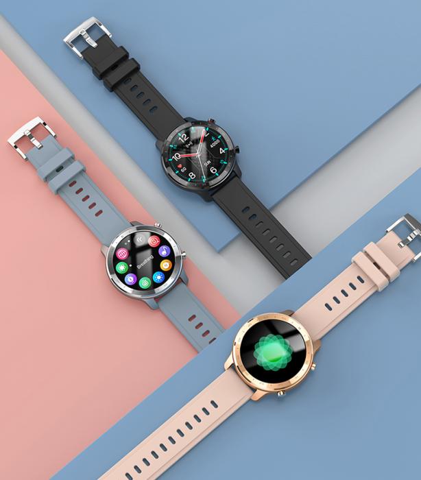 Ceas inteligent (smartwatch) Optimus AT S30 ecran cu touch color HD, moduri sport, pedometru, puls, notificari, auriu [3]