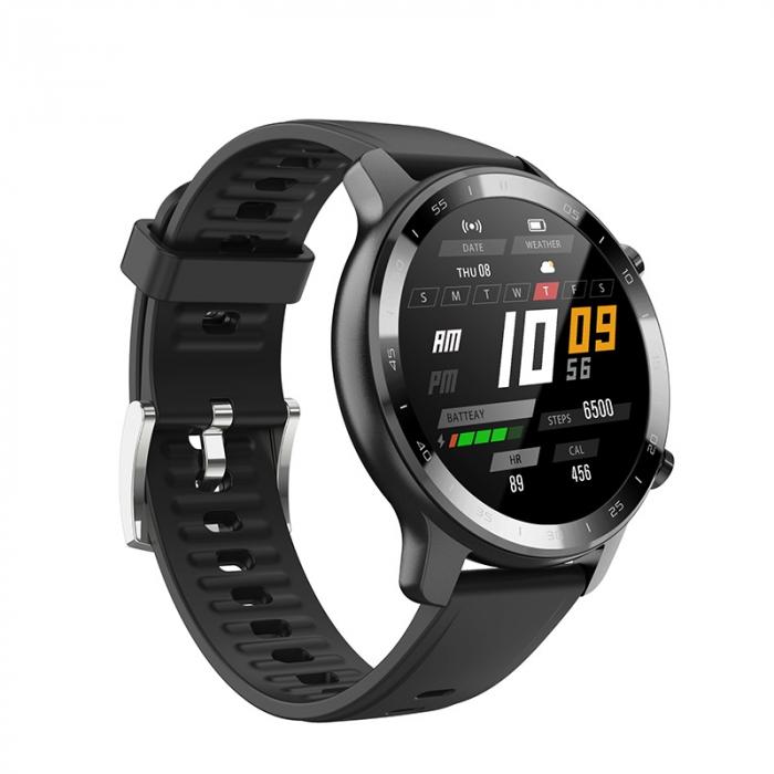 Ceas inteligent (smartwatch) Optimus AT S30 ecran cu touch color HD, moduri sport, pedometru, puls, notificari, negru [2]