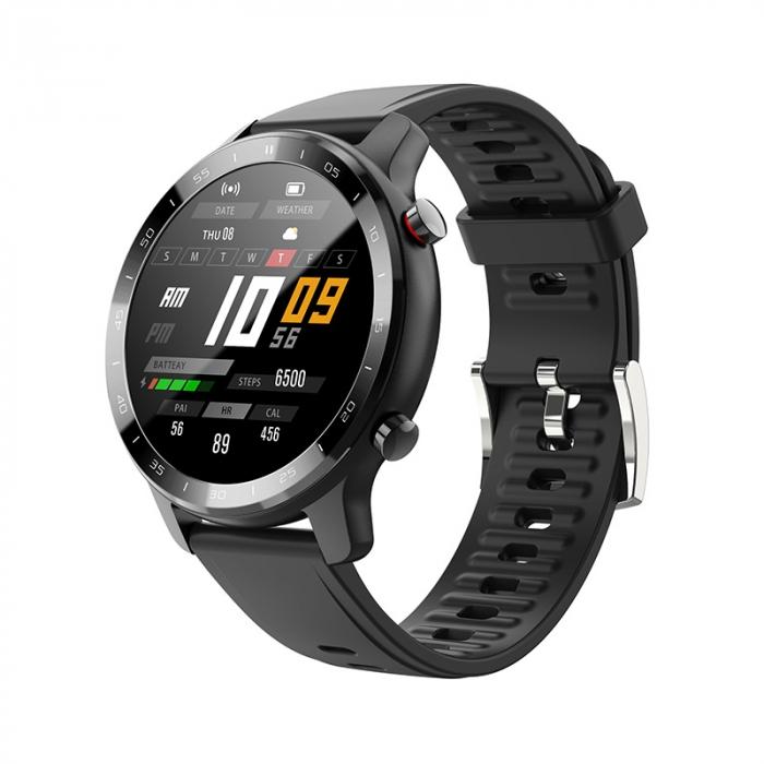 Ceas inteligent (smartwatch) Optimus AT S30 ecran cu touch color HD, moduri sport, pedometru, puls, notificari, negru [0]