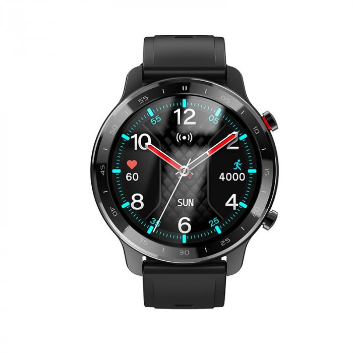 Ceas inteligent (smartwatch) Optimus AT S30 ecran cu touch color HD, moduri sport, pedometru, puls, notificari, negru [1]