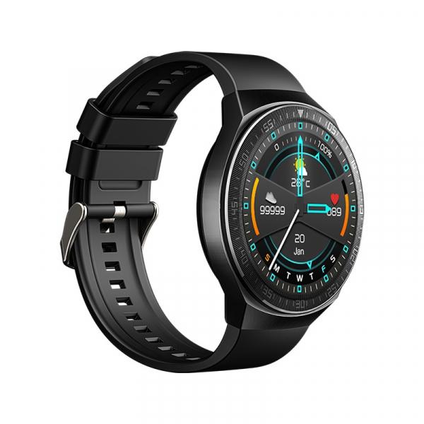 Ceas inteligent (smartwatch) MT-3 cu difuzor si microfon incorporat, ecran cu touch 1.28 inch color, moduri sport, pedometru, puls, notificari, black [1]