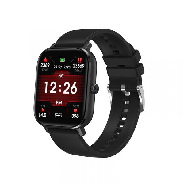 Ceas inteligent (smartwatch) Optimus AT DT-35 cu difuzor si microfon incorporat, ecran cu touch 1.54 inch color HD, moduri sport, pedometru, puls, notificari, black [0]