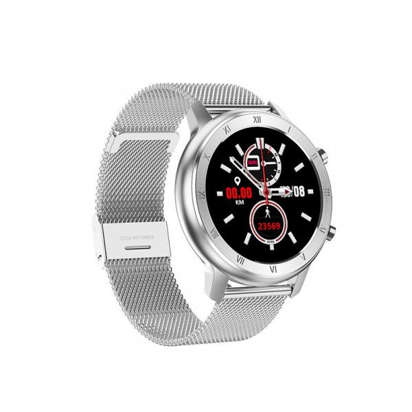 Ceas inteligent (smartwatch) Optimus AT DT-89 ecran cu touch 1.2 inch color HD, moduri sport, pedometru, puls, notificari, metal grey [0]