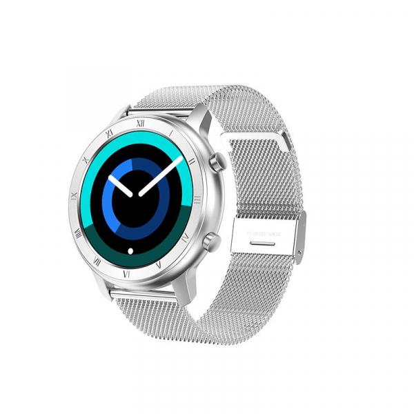 Ceas inteligent (smartwatch) Optimus AT DT-89 ecran cu touch 1.2 inch color HD, moduri sport, pedometru, puls, notificari, metal grey [1]
