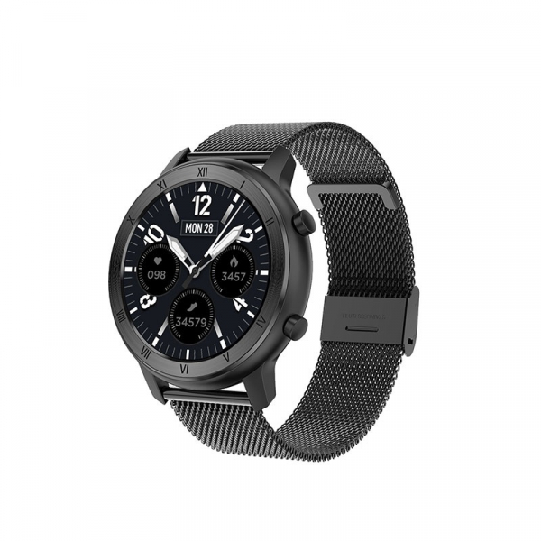 Ceas inteligent (smartwatch) Optimus AT DT-89 ecran cu touch 1.2 inch color HD, moduri sport, pedometru, puls, notificari, metal black [1]