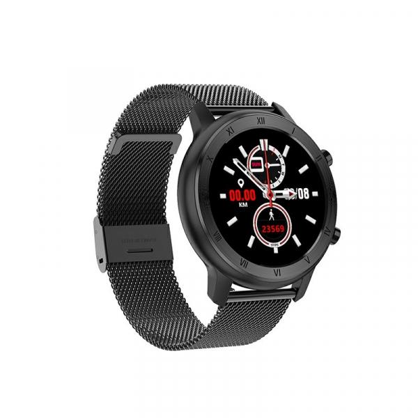 Ceas inteligent (smartwatch) Optimus AT DT-89 ecran cu touch 1.2 inch color HD, moduri sport, pedometru, puls, notificari, metal black [0]