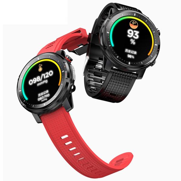 Ceas inteligent (smartwatch) sport Optimus AT L15 ecran cu touch 1.3 inch color HD, Sp02, puls, 10 moduri sport, notificari, red [2]