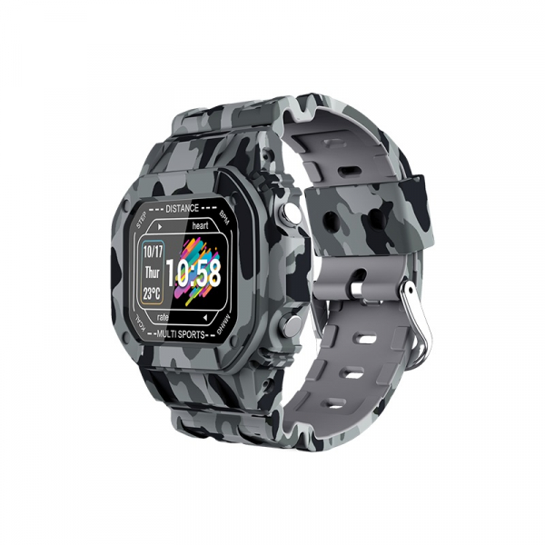 Ceas inteligent (smartwatch) cu design retro Optimus AT I2 ecran 0.96 inch color puls, moduri sport, notificari, army [0]