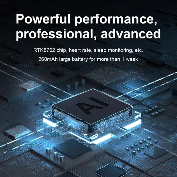 Ceas inteligent (smartwatch) Optimus AT DTX ecran cu touch 1.78 inch color HD, ECG, Sp02, puls, moduri sport, notificari, silicon black [4]