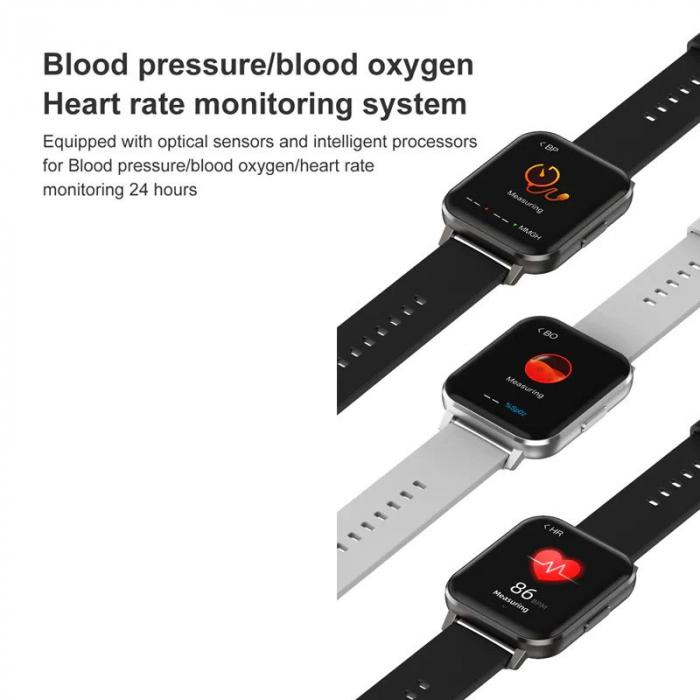 Ceas inteligent (smartwatch) Optimus AT DTX ecran cu touch 1.78 inch color HD, ECG, Sp02, puls, moduri sport, notificari, silicon black [8]