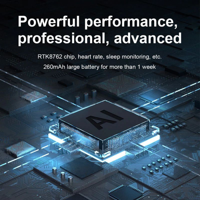 Ceas inteligent (smartwatch) Optimus AT DTX ecran cu touch 1.78 inch color HD, ECG, Sp02, puls, moduri sport, notificari, silicon grey [2]