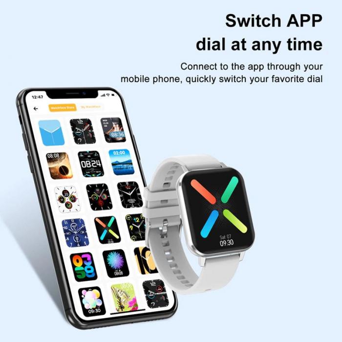 Ceas inteligent (smartwatch) Optimus AT DTX ecran cu touch 1.78 inch color HD, ECG, Sp02, puls, moduri sport, notificari, silicon grey [4]