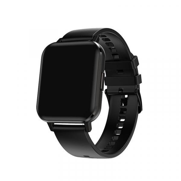 Ceas inteligent (smartwatch) Optimus AT DTX ecran cu touch 1.78 inch color HD, ECG, Sp02, puls, moduri sport, notificari, silicon black [1]